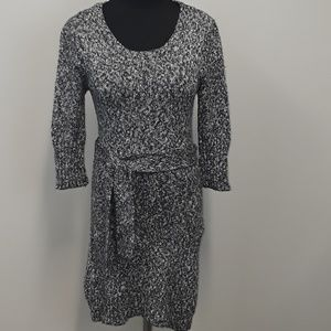 Tulle Anthropologie gray sweater dress size S